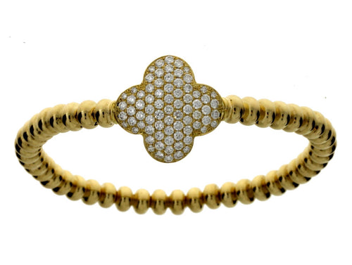 Yellow Gold Large Clover Bracelet