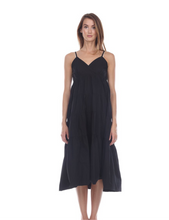 Load image into Gallery viewer, Black Tiered Maxi Dress