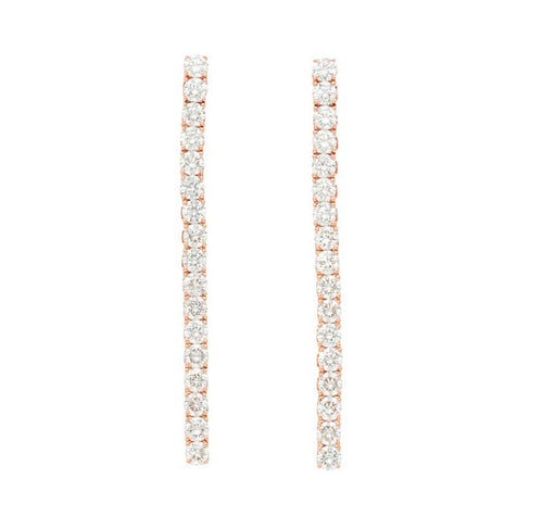 Bar Diamond Stud Earring