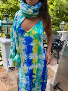 Tie Dye Silk Dress