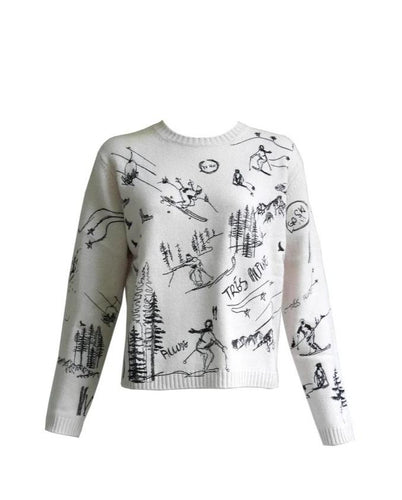 Ski Embroidered Sweater