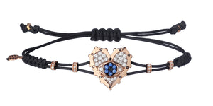 Evil Eye Heart Diamond Bracelet
