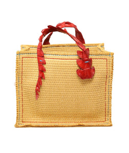 Croc Handle Canvas Bag