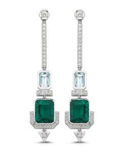 Paris Green Quartz Earrings