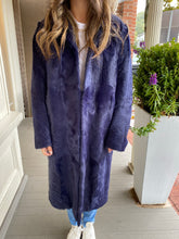 Load image into Gallery viewer, Navy Kidskin Lamb Coat