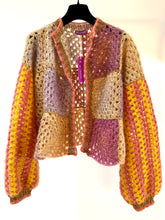 Load image into Gallery viewer, Patchwork Bolero Curry Sweater