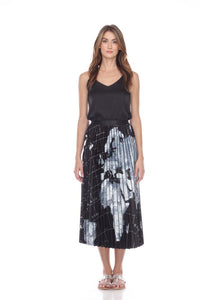 Pleated Map Skirt