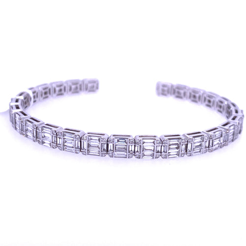 Diamond Emerald Cut Bracelet