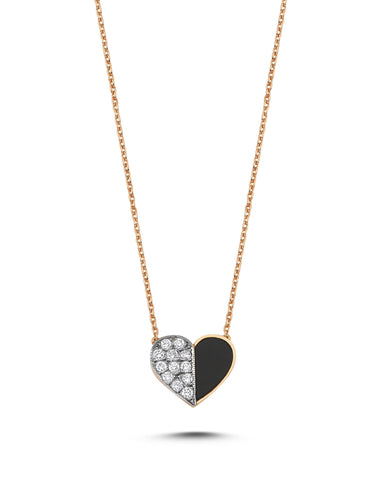 Deep Space Onyx Heart Necklace