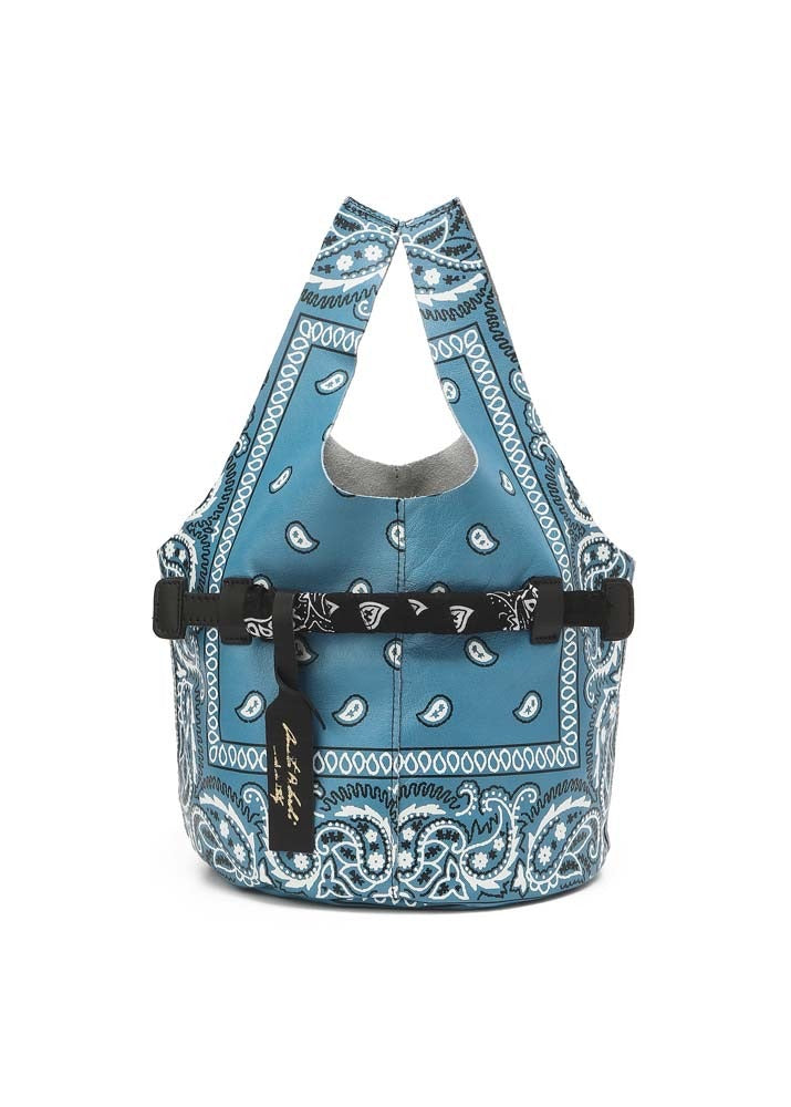 Leather Bandana Tote