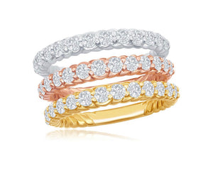 Half-way Rope Eternity Ring
