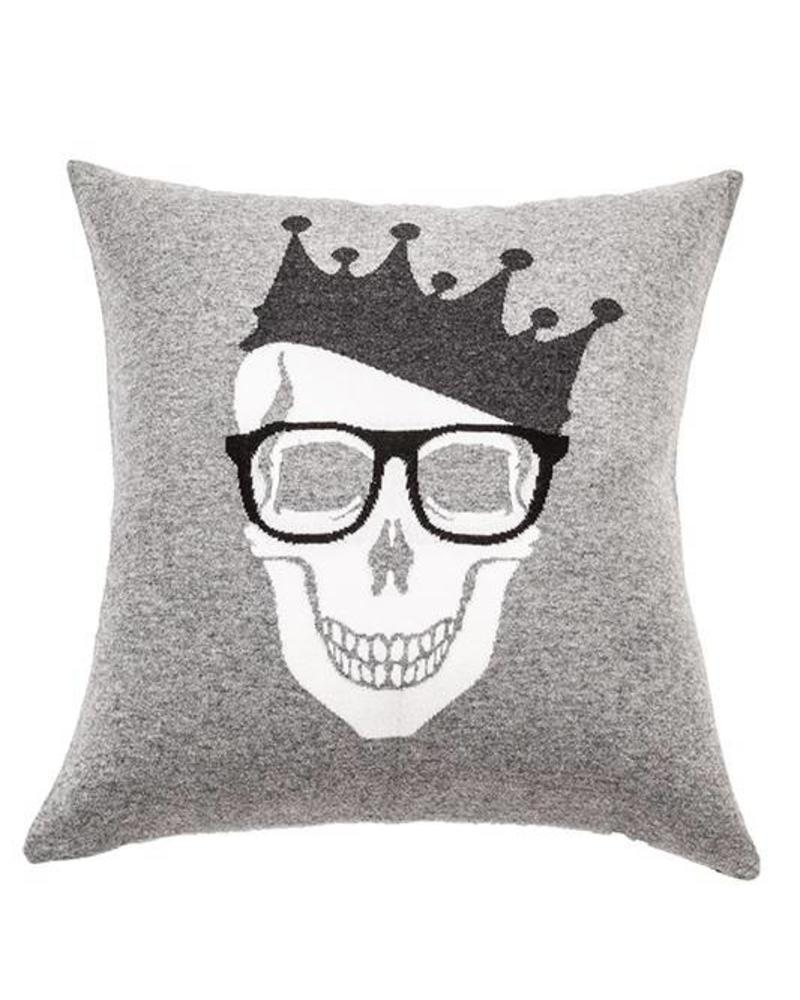 Skull Crown Pillow