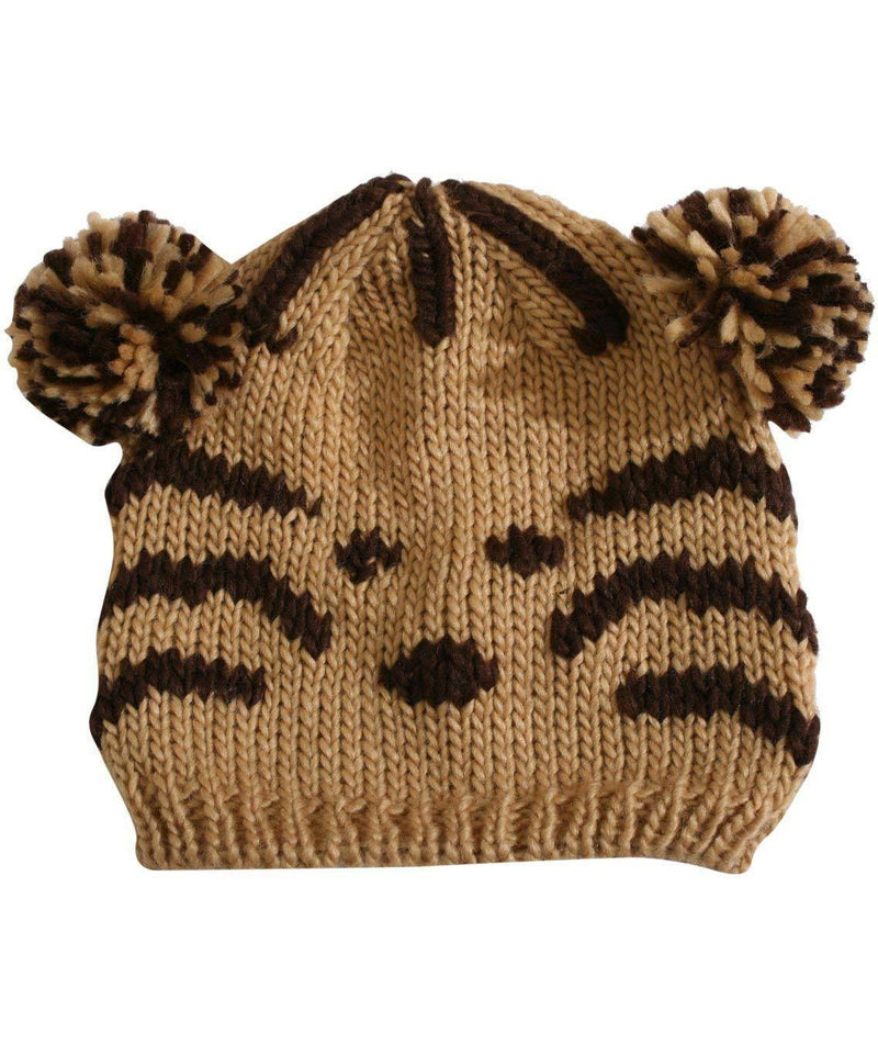 Lucia Animal Beanie in Brown FRONT