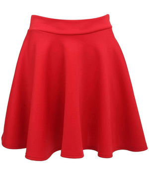 Scuba Skater Skirt in Red FRONT