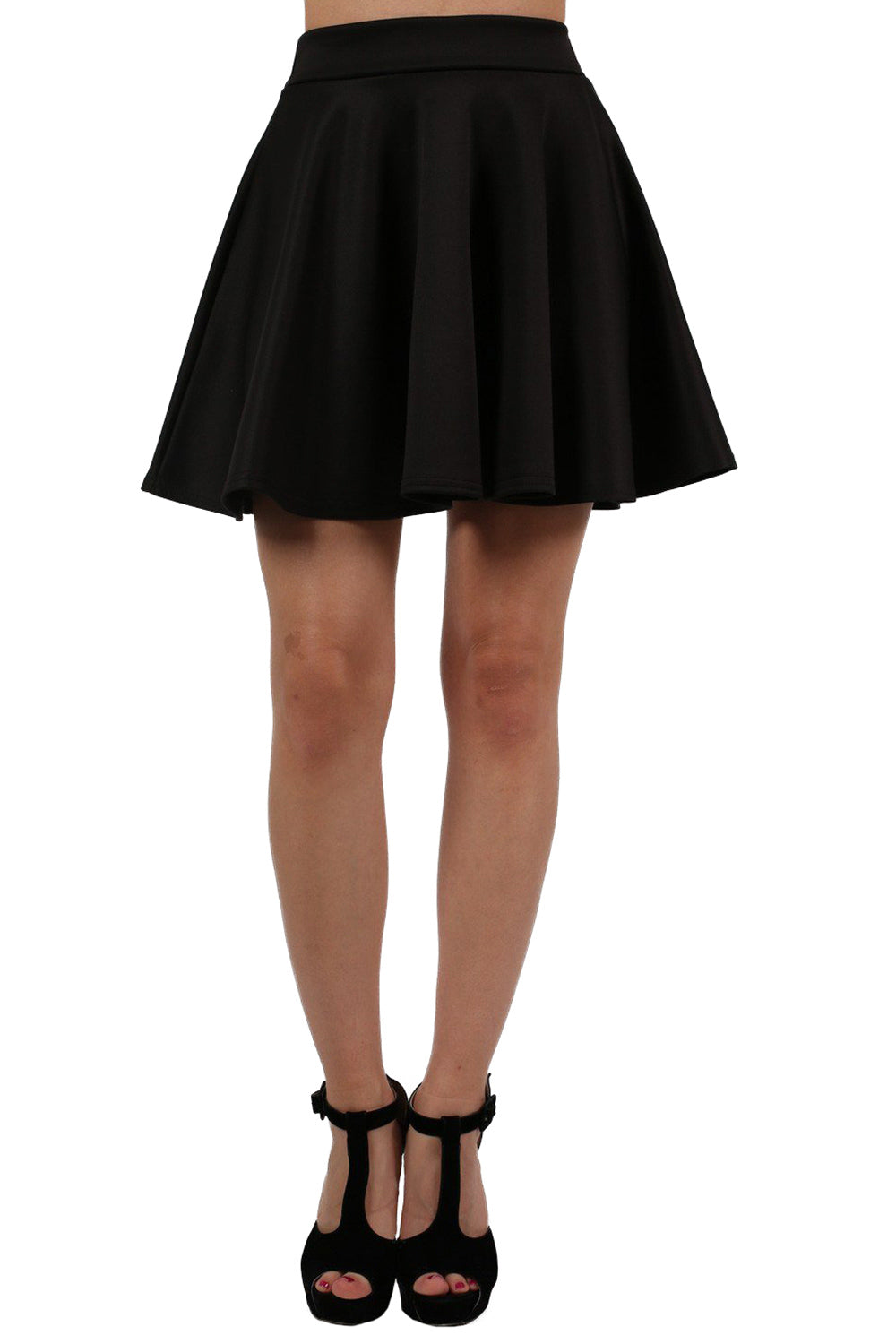 Scuba Skater Skirt in Black