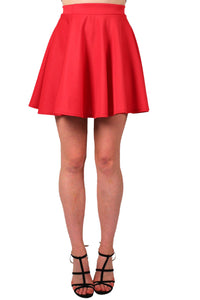 Scuba Skater Skirt in Red