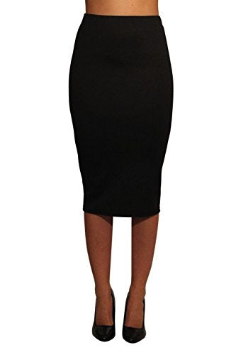 Pencil Tube Skirt in Black