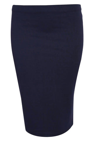 Katarina Pencil Skirt in Navy Blue FRONT