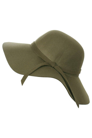 Janelle Floppy Self Fabric Band Hat in Khaki Green FRONT