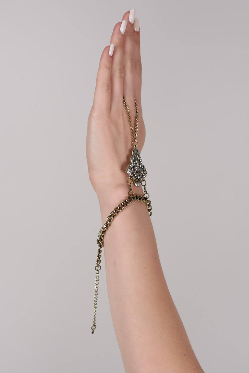 Jewel Bracelet Hand Harness in Gold MODEL 1