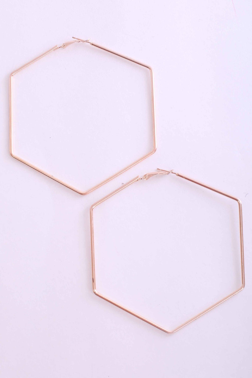 Hexagonal Earrings in Gold 1
