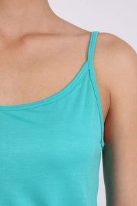 Plain Cami Strap Playsuit in Aqua Green 3