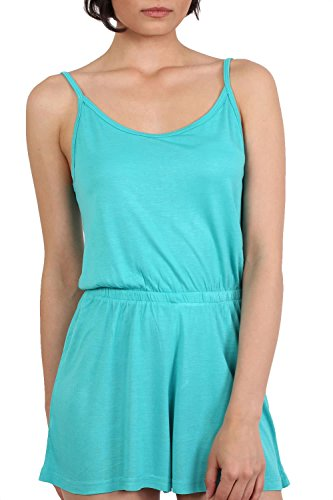 Plain Cami Strap Playsuit in Aqua Green