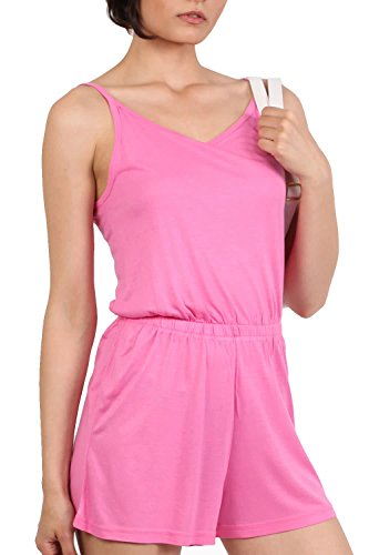 Plain Cami Strap Playsuit in Candy Pink