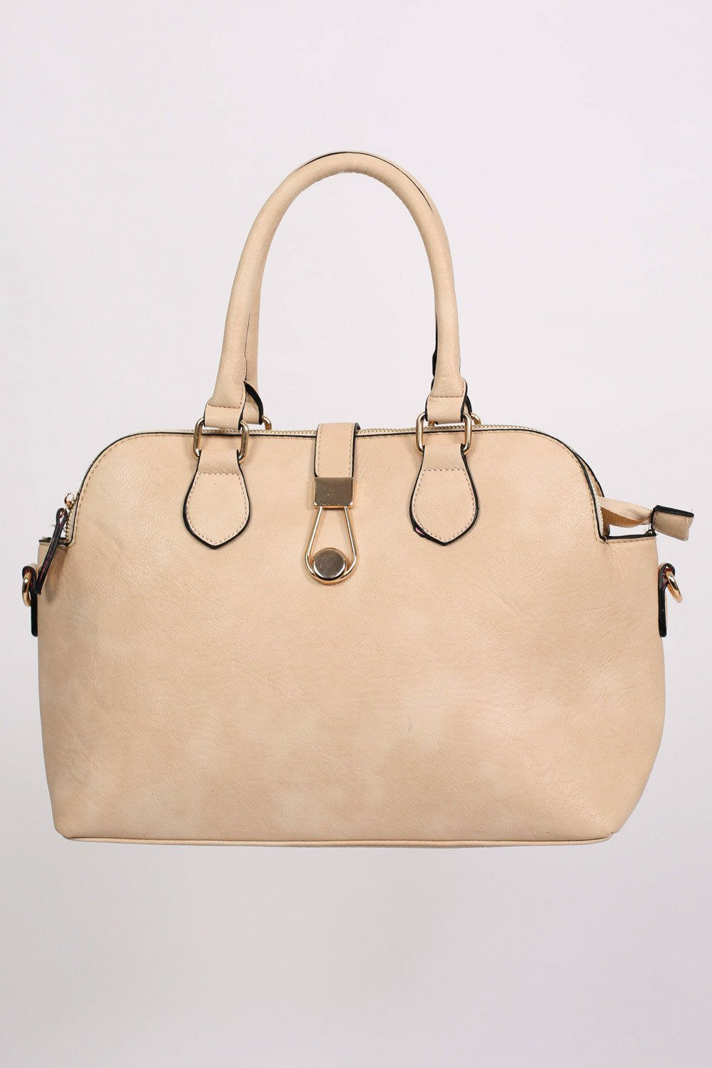 Two Handle Bowler Tote Bag in Champagne 5