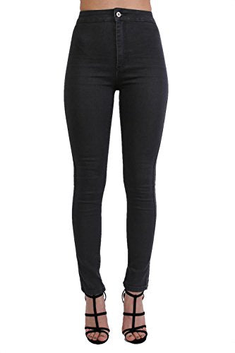 High Waisted Super Skinny Jeans in Black