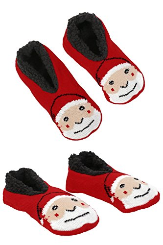 Christmas Novelty Santa Claus Slipper Socks in Red
