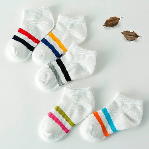 5 Pair/lot  Baby Socks Neonatal Summer Mesh Cotton Kids Girls Boys Children Socks For 1-10 Year