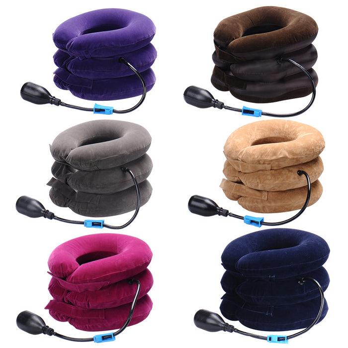 Inflatable Air Cervical Neck Traction, Neck Massage Soft Brace Device Unit for Headache Head Back Shoulder Neck Pain