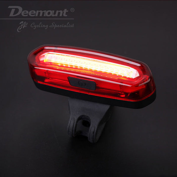 rechargeable bike led tail light bicycle safety cycling warning rear lamp