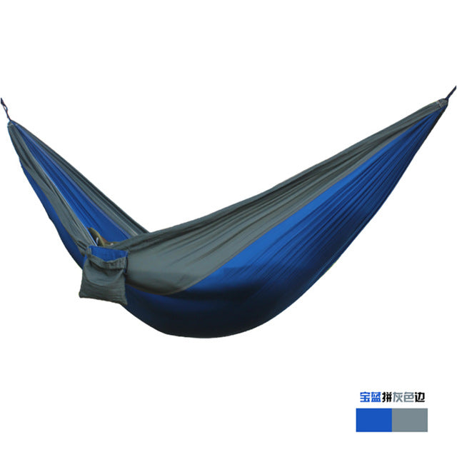 2-Person Parachute Hammock for Camping/Survival/Hunting/ Leisure,Portable Hamak (24 Colors)