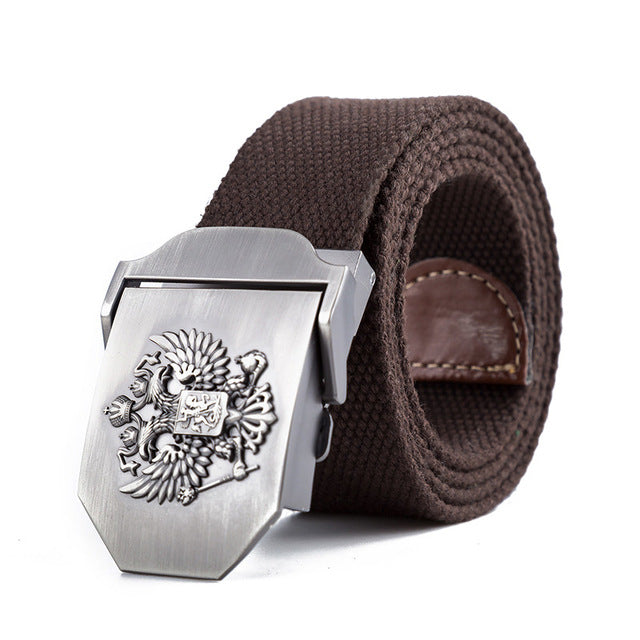 Unisex Russian National Emblem Canvas Tactical Belt  For Mens & Women