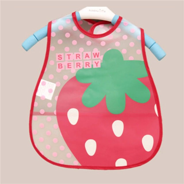 Unisex Baby Bibs EVA Waterproof w/ Cartoon Pattern  for Children Self Feeding Care