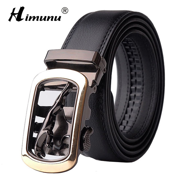 2016 New Designer Automatic Buckle Cowhide Leather Solid Pattern (7.5cm x 4cm)