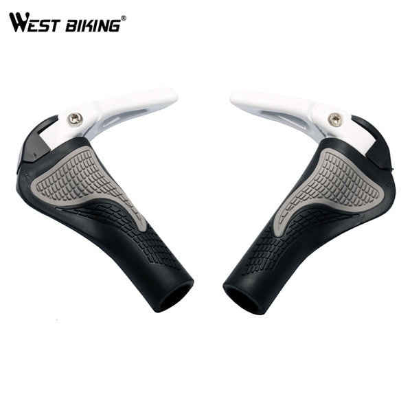 [WEST BIKING] Bicycle Components Bar ends Handlebars Rubber Grips Aluminum Barend Handle bar Ergonomic Push On Soft Grips