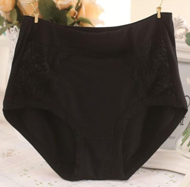 QA82 New Arrival Hot Selling Female Cotton Panties Sexy Lace Lingerie Clothes for Women Underwear (Plus Size)