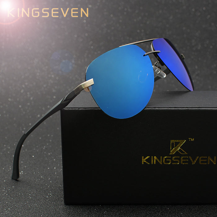 KINGSEVEN Aluminum Magnesium Polarized Sunglasses (Unisex ) - Good for Driving & Fishing