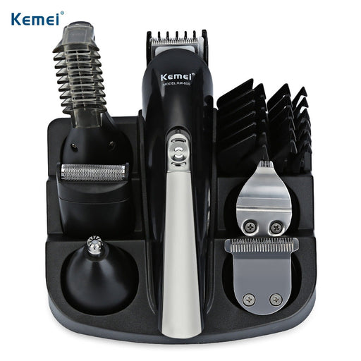 Kemei KM - 600 Professional Hair Trimmer, 6 In 1 Hair Clipper, Electric Shaver & Beard Trimmer