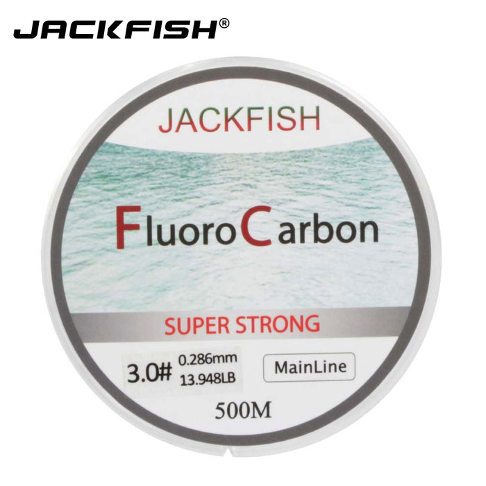 JACKFISH HOT SALE 500M Fluorocarbon Fishing Line  5-32LB test Carbon Fiber Leader Line 0.165-0.46mm
