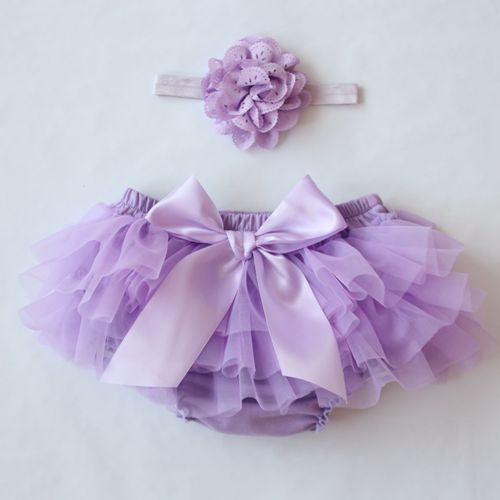 Baby Cotton Chiffon Ruffle Bloomers, Cute Diaper Cover for Newborn w/ Flower Shorts