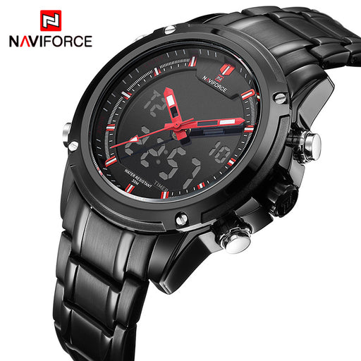 NAVIFORCE Luxury Brand Men's Sports Army Military Watches Quartz Analog LED Clock Waterproof Watch