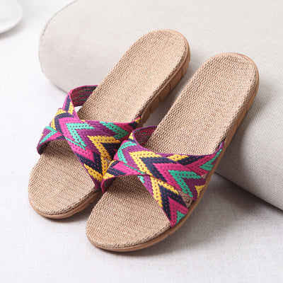 New Summer Home Slippers for Women, Indoor Bedroom Slippers, 22 Gradient Color, Plus Size, Beach Flat Shoes