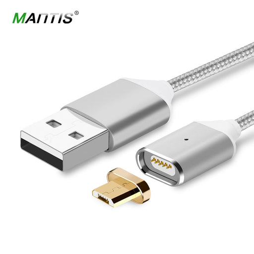 Magnetic Cable Mantis Nylon Braided Micro USB Magnet Cable Fast Charging Data Sync Charger Cable for Xiaomi Samsung Android