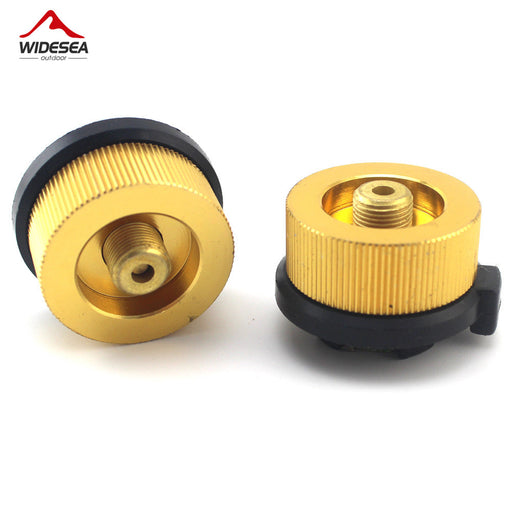 Outdoor Camping & Hiking Stove Burner Adaptor, Split Type Furnace, Converter Connector, Auto-off Gas Cartridge Tank