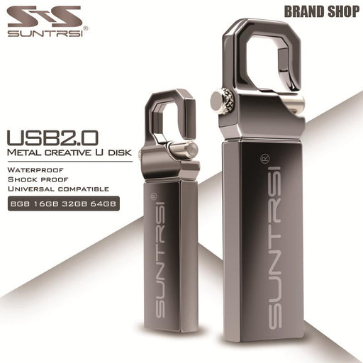 Suntrsi USB Flash Drive 64GB Metal Pendrive High Speed USB Stick 32GB Pen Drive Real Capacity 16GB USB Flash Free Shipping