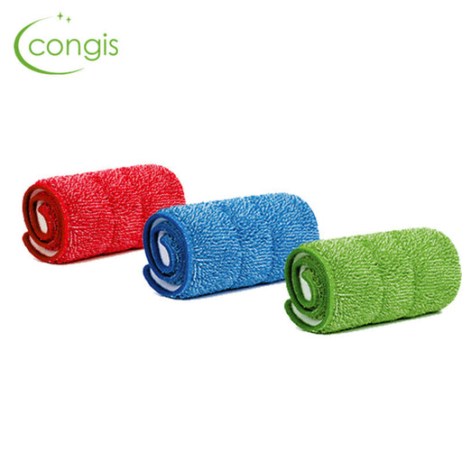 Congis 3PCS/set Fiber Spray Mop Head Floor cleaning cloth Paste The Mop To Replace Cloth Household Cleaning Mop Accessories